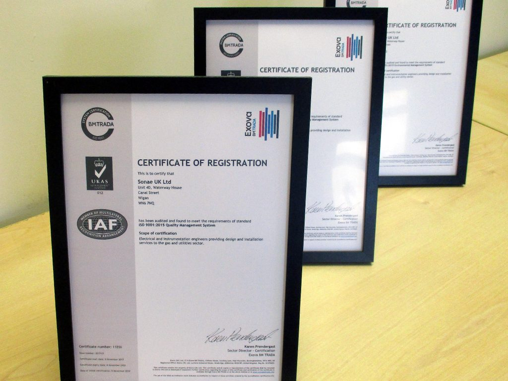 News Sonae Uk Niceic Type Wiring Codes Achieves Iso 90012015 140012015 And Ohsas 180012007 Certification